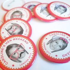 personalised hen party badges by happi yumi | notonthehighstreet.com