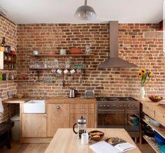 open shelving small kitchen island wood