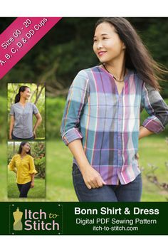 1255fb4398a Bonn Shirt and Dress by Itch to Stitch Pattern Preview 1