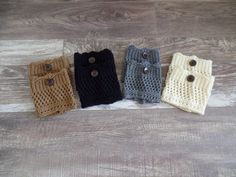 FOUR Pairs S-M Womens Boot Cuffs Womens Knit Boot by uptowngirlco