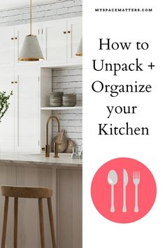 Moving is stressful, unpacking is tough....especially unpacking the kitchen. If you follow these 5 steps from a professional organizer, your new house will feel like a home in no time. Unpack a kitchen the easy way. #kitchen #organizing #unpacking #professionalorganizer kitchen organization Space Matters, Kitchen Organization, Organizing, Extra Storage, New Kitchen, Declutter, New Homes, House, Home Decor