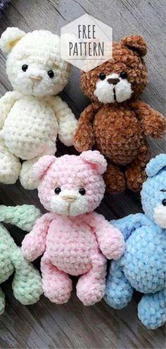 toys patterns diy free crochet Amigurumi Soft Bear Free Pattern - Crochet and Knitting Patterns Crochet Bear Patterns, Crochet Animals, Baby Knitting Patterns, Knitting Toys, Crochet Stuffed Animals, Crochet Teddy Bears, Knitted Toys Patterns, Free Knitting, Free Amigurumi Patterns
