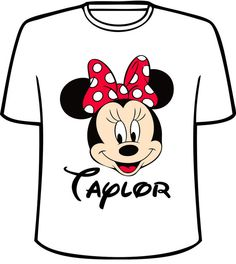 Personalized Minnie Mouse Face TShirt by SensationalShirtsLLC, $13.99