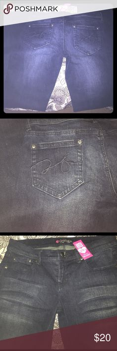2B (bebe) Giselle Jeans Stretch stone wash... slim boot... very comfortable ... NWT 2B Jeans Boot Cut