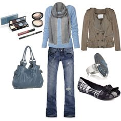 Blue and Gray, created by rosemary-woodhouse.polyvore.com