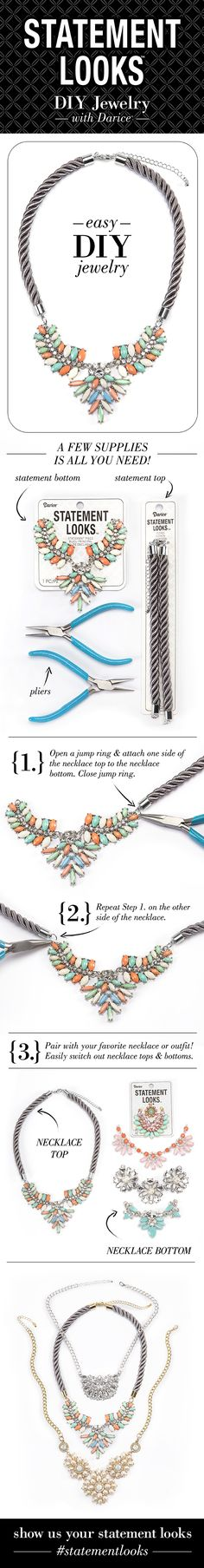 Create this DIY Statement Necklace in a few easy steps.