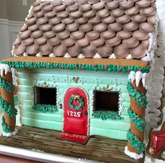 First time making a gingerbread house from scratch and I'm loving the smell of Christmas in my kitchen. Christmas Gingerbread House, Christmas Sweets, Gingerbread Houses, Cozy Christmas, Christmas Time, Delicious Cookie Recipes, Yummy Cookies, Cookie House, Holiday Cookies