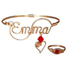 Custom handmade bracelets with name you want. Made in a gold filled, rose gold filled or sterling silver wire. Unique handcrafts personalized gifts ideas.