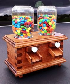 Candy Dispenser  Mahogany