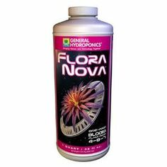Hydrofarm GH1633 FloraNova Bloom, 1-Gallon by Hydrofarm. $62.85. A very small amount of FloraNova mixed with fresh water will provide your plants with proper nutrition. Measures 6-inch length by 6-inch width by 11-1/2-inch height. FloraNova represents a breakthrough in fertilizer technology, as it gives users both the strength of a dry concentrate and the ease of a liquid. FloraNova one part formulation, combines all the elements required for hydroponic cultivat...