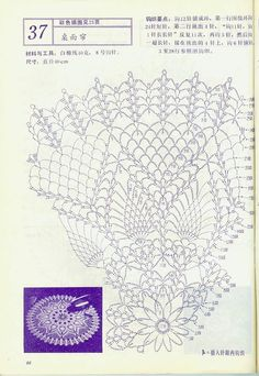 "Photo from album ""Interior crocheted"" on Yandex. Crochet Doily Diagram, Crochet Doily Patterns, Crochet Chart, Lace Patterns, Thread Crochet, Filet Crochet, Crochet Doilies, Crochet Stitches, Knitting Patterns"