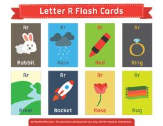 Free Printable Letter R Flash Cards Vocabulary Flash Cards, Vocabulary Activities, Kids Learning Activities, Learning Letters, Kindergarten Syllabus, Kindergarten Language Arts, Letter Flashcards, Alphabet Cards, Printable Letters