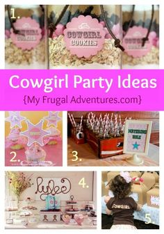 Cowgirl party inspiration- so cute!