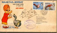 Air India First Flight Cover (August 1968)
