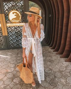 Summer Getaway Outfits, Spring Outfits, Preppy Outfits, Cool Outfits, Fashion Outfits, Kimono Outfit, Trench Coat Style, Ootd, Summer Looks