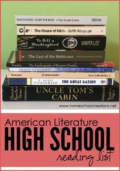 FREE American Literature Reading List for High School | Free Homeschool Deals ©