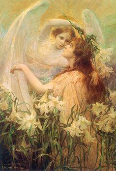 """۩ George Hilliard Swinstead, """"The Angel's Message""""1860-1926"""