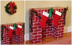 DIY Christmas Fireplace for the Holidays