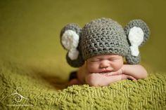 Elephant Hat, Newborn, Baby. Omg I love this!