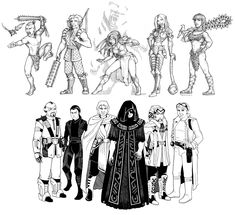 Sarah Naomi Tyrrell on Behance Star Wars Rpg, Sith, Dungeons And Dragons, Traditional Art, Starwars, Line Art, Aztec, Whimsical, Character Design