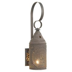Electrified Wall Lantern by Irvin's Country Tinware