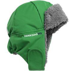 Didriksons Helge Hat in Lawn Green - cute fleece hat ski sail outdoor