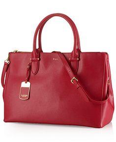 Lauren Ralph Lauren Newbury Double Zip Satchel - Lauren Ralph Lauren - Handbags & Accessories - Macy's