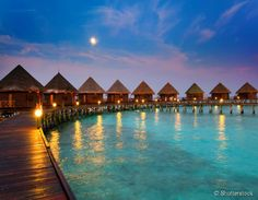 12 - Ilhas Maldivas:  as 1196 ilhas compõem um cenário paradisíaco com o clima tropical e águas transparentes. Localizada no Oceano Índico, a República das Maldivas é um dos destinos mais procurados para quem quer relaxar e ter férias de sonho.