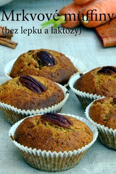 TynaTyna: Mrkvové muffiny (bez lepku a laktózy) Gluten Free Sweets, Gluten Free Baking, Vegan Gluten Free, Healthy Sweets, Healthy Recipes, Healthy Food, Foods With Gluten, Food And Drink, Low Carb