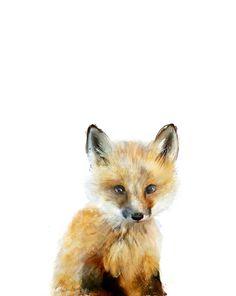 Free shipping on #Society6 Little Fox Art Print