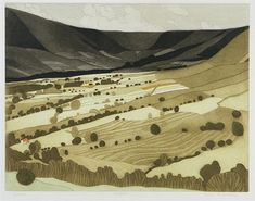 View Edale By John Brunsdon; etching and aquatint; x Signed; Access more artwork lots and estimated & realized auction prices on MutualArt. Watercolor Landscape, Landscape Art, Collagraph, Space Gallery, Landscape Pictures, Print Artist, Paper Cutting, Yorkshire, Printmaking