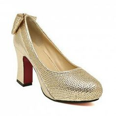 Party Women's Pumps With Bowknot and Sequins Design