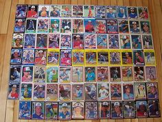 MONTREAL EXPOS Huge Lot of (83) Different Old Vintage Baseball Cards 1980-91