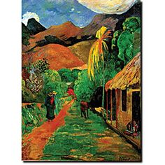 @Overstock - Artist: Paul GaughinTitle: Rue de TahitiProduct type: Gallery-wrapped canvas arthttp://www.overstock.com/Home-Garden/Paul-Gaughin-Rue-de-Tahiti-Gallery-wrapped-Canvas-Art/5113431/product.html?CID=214117 $28.49