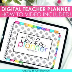 Have the most organized school year yet with this DIGITAL Teacher Planner designed just for you. This ready to use teacher organization system is ready to use with the GoodNotes app. No printing, no binder. Just all your plans, activities and data right at your finger trips. This #JoeyUdovich #TeacherPlanner is everything you'd expect for teacher organization and more. #Teacher #TeacherOrganization #ClassroomOrganization #BacktoSchool Teacher Planner, Teacher Binder, Teacher Organization, Organizing, Anecdotal Notes, Data Binders, Student Information, Math Groups, Student Data