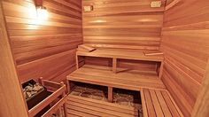Dry luxury in home sauna.