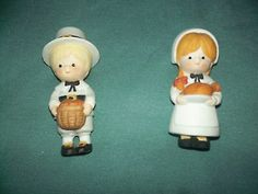 Country Cousin Katie & Scooter Thanksgiving/Pilgrim Set by Enesco ...