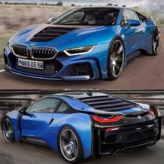 The BMW was unveiled at the Frankfurt Motor Show in 2013 and is a plug in hybrid sports car. The combines a turbo charged motor with a large electric engine and the car has some impressive performance figures. Maserati, Lamborghini, Ferrari, Bugatti, Suv Bmw, Bmw I8, Royce, Koenigsegg, Supercars
