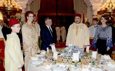 Le Roi Mohammed VI invite le couple royal de Jordanie à sa table