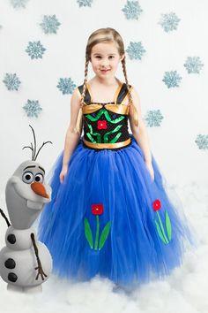 Anna Frozen Dress...Princess Tutu Dress...Princess Costume...Frozen Party....Anna Costume on Etsy, $70.00