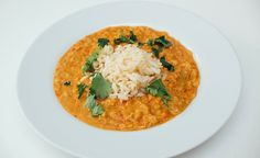 Kremet daal Daal, Base Foods, Plant Based Recipes, Risotto, Cravings, Vegan Recipes, Curry, Ethnic Recipes, Casseroles
