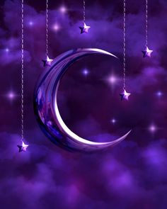...I love purple.   And the night.  And most of all, I love the Moon.