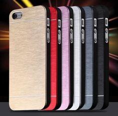 Hard Aluminum Metal Soft TPU Frame Case iPhone 5 5S 6 7 Hard Back Cover PAPC111 #UnbrandedGeneric