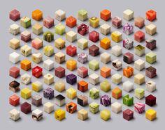 So kreierten Designer ein isometrisches Raster aus 98 kulinarischen Würfeln | The Creators Project