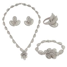 shaze rhodium-plated Classy Jewelry Set -- Awesome products selected by Anna Churchill