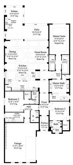 Anvard Luxury Narrow Lot Villa Home Plan | Sater Design Collection House  Plans Design Ideas