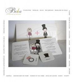 Invitaciones boda #boda #novios originales wedding invitations boda monitos, codigo QR, #anillocompromiso #sombrero