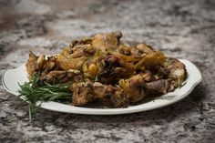 Elisa's Roasted Chicken (Pollo Spezzato Al Forno) is a flavorful meat dish! Order her cookbook for this recipe, along with other delicious meat dishes! http://www.italianmomscooking.com/ #italianmomscooking