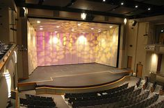 A multi-height orchestra pit filler from StageRight brings performers closer to the audience. Easy to set up supports provide a safe, and incredibly solid platform for performers. Theatre Design, Stage Design, Little Theatre, Math Projects, Black Box, Mirror, Building, Interior, Closer