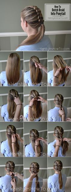 Outstanding How To Do A Dutch Braid into A Ponytail Tutorial The post How To Do A Dutch Braid into A Ponytail Tutorial… appeared first on Haircuts and Hairstyles .